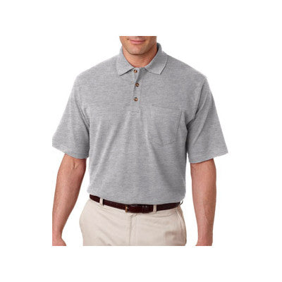 UltraClub Classic Pique Polo with Pocket - EZ Corporate Clothing  - 6