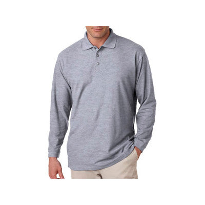 UltraClub Long-Sleeve Whisper Pique Polo - EZ Corporate Clothing  - 4