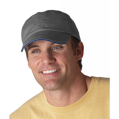 Anvil Solid Pigment-Dyed Twill Sandwich Cap - EZ Corporate Clothing  - 3