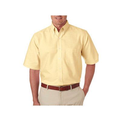 UltraClub Mens Classic Wrinkle-Free Short-Sleeve Oxford - EZ Corporate Clothing  - 3