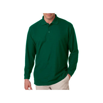 UltraClub Long-Sleeve Whisper Pique Polo - EZ Corporate Clothing  - 3