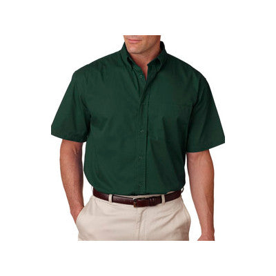 UltraClub Short-Sleeve Whisper Twill Shirt - EZ Corporate Clothing  - 3