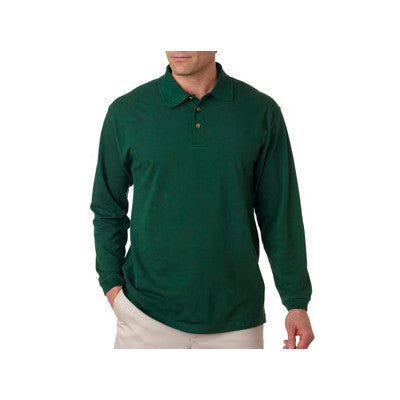 UltraClub Long-Sleeve Classic Pique Polo - EZ Corporate Clothing  - 5
