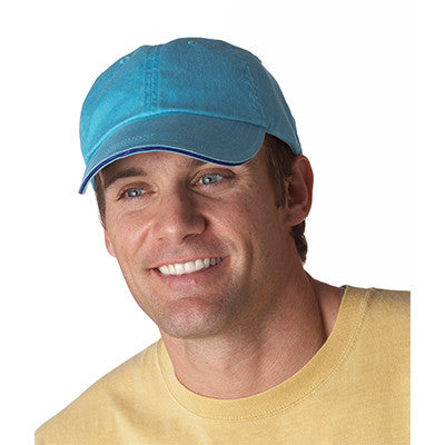 Anvil Solid Pigment-Dyed Twill Sandwich Cap - EZ Corporate Clothing  - 2