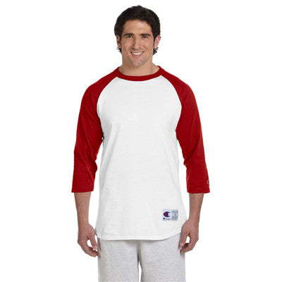Champion 6.1oz. Tagless Raglan Baseball T-Shirt - EZ Corporate Clothing  - 15