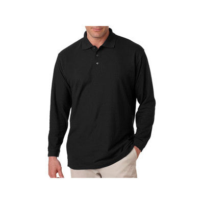 UltraClub Long-Sleeve Whisper Pique Polo - EZ Corporate Clothing  - 2