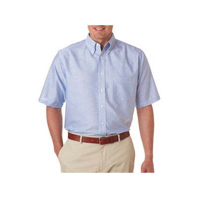 UltraClub Mens Classic Wrinkle-Free Short-Sleeve Oxford - EZ Corporate Clothing  - 2