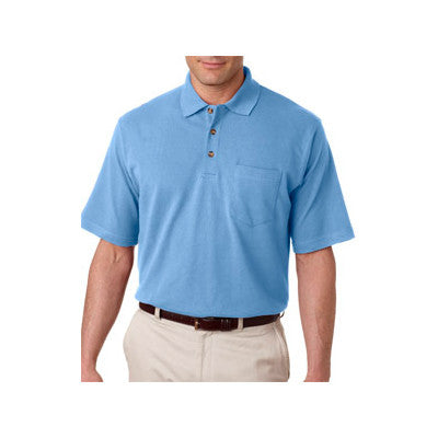 UltraClub Classic Pique Polo with Pocket - EZ Corporate Clothing  - 4