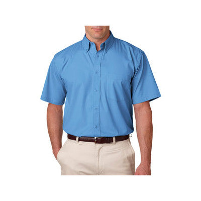 UltraClub Short-Sleeve Whisper Twill Shirt - EZ Corporate Clothing  - 7