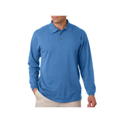 UltraClub Long-Sleeve Classic Pique Polo - EZ Corporate Clothing  - 4