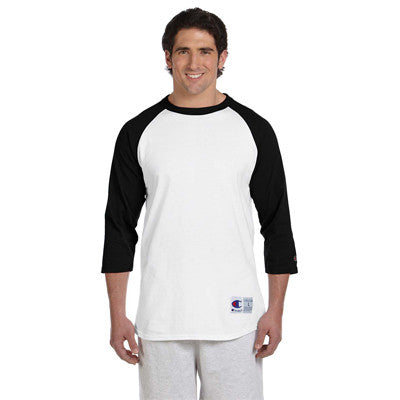 Champion 6.1oz. Tagless Raglan Baseball T-Shirt - EZ Corporate Clothing  - 4