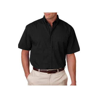UltraClub Short-Sleeve Whisper Twill Shirt - EZ Corporate Clothing  - 2