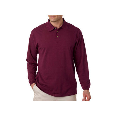 UltraClub Long-Sleeve Classic Pique Polo - EZ Corporate Clothing  - 3