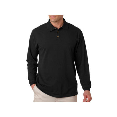 UltraClub Long-Sleeve Classic Pique Polo - EZ Corporate Clothing  - 2