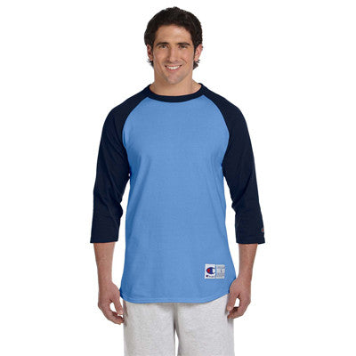 Champion 6.1oz. Tagless Raglan Baseball T-Shirt - EZ Corporate Clothing  - 5