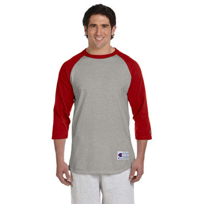 Champion 6.1oz. Tagless Raglan Baseball T-Shirt - EZ Corporate Clothing  - 9