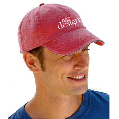 Anvil Solid Pigment-Dyed Twill Sandwich Cap - EZ Corporate Clothing  - 1