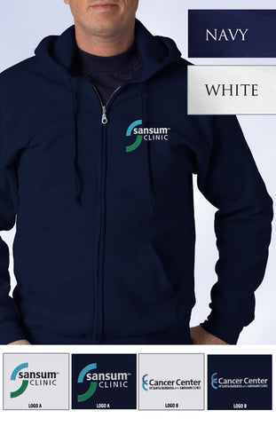Sansum Clinic Gildan Full-Zip Hooded Sweatshirt - EZ Corporate Clothing  - 2
