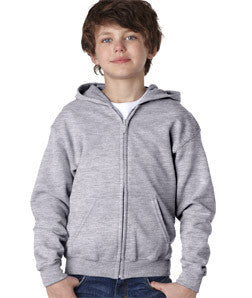 Gildan Youth Heavy Blend Full-Zip Hooded Sweatshirt - EZ Corporate Clothing  - 9
