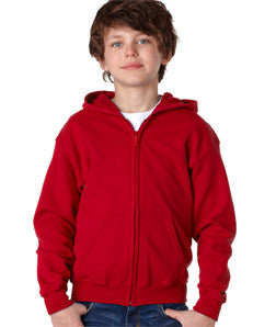Gildan Youth Heavy Blend Full-Zip Hooded Sweatshirt - EZ Corporate Clothing  - 7