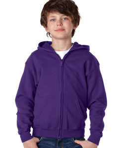Gildan Youth Heavy Blend Full-Zip Hooded Sweatshirt - EZ Corporate Clothing  - 6