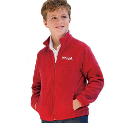 Harriton Youth 8oz. Full-Zip Fleece - EZ Corporate Clothing  - 1