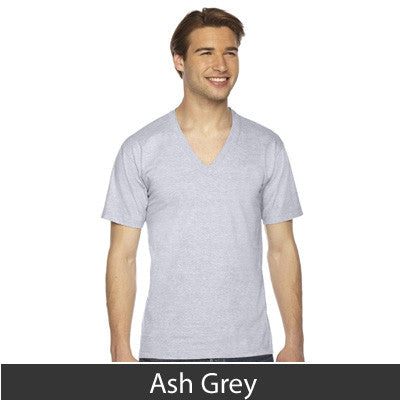 American Apparel Unisex Fine Jersey Short Sleeve V-Neck - EZ Corporate Clothing  - 3