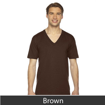 American Apparel Unisex Fine Jersey Short Sleeve V-Neck - EZ Corporate Clothing  - 7