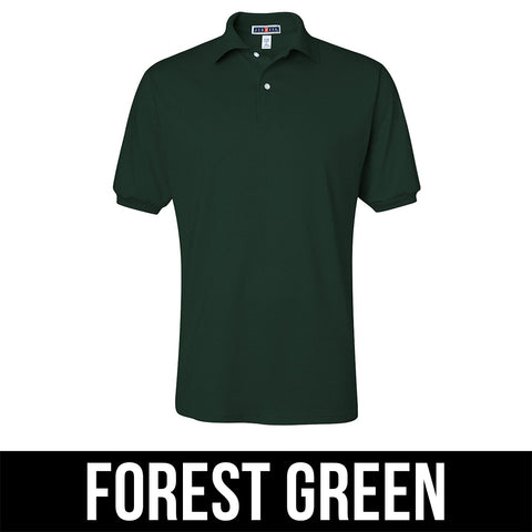 Jerzees Mens Jersey Polo With Spotshield - Printed