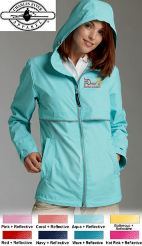 Charles River Womens Rain Jacket - EZ Corporate Clothing  - 2