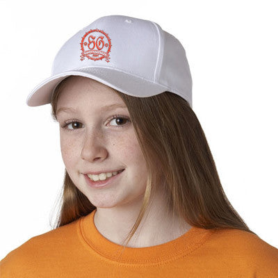 UltraClub Youth Classic Cut Cotton Twill Cap