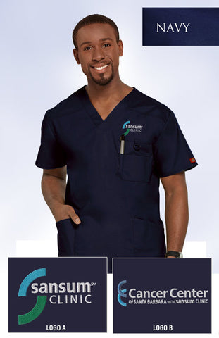 Sansum Clinic Dickies Men's V-Neck Scrub Top - 3 Pockets - EZ Corporate Clothing  - 2