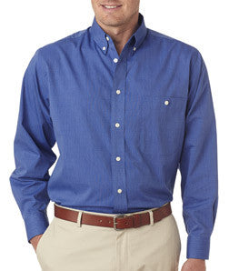UltraClub Mens Wrinkle-Free End-On-End Shirt - EZ Corporate Clothing  - 4