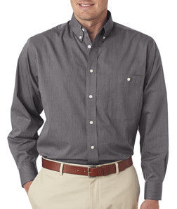 UltraClub Mens Wrinkle-Free End-On-End Shirt - EZ Corporate Clothing  - 2