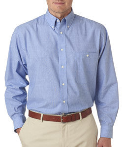 UltraClub Mens Wrinkle-Free End-On-End Shirt - EZ Corporate Clothing  - 3