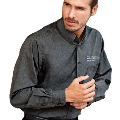 UltraClub Mens Wrinkle-Free End-On-End Shirt
