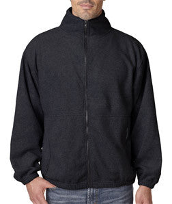 UltraClub Mens Iceberg Fleece Full-Zip Jacket - EZ Corporate Clothing  - 2