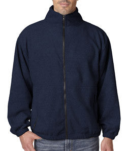 UltraClub Mens Iceberg Fleece Full-Zip Jacket - EZ Corporate Clothing  - 6