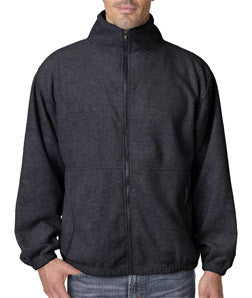 UltraClub Mens Iceberg Fleece Full-Zip Jacket - EZ Corporate Clothing  - 3