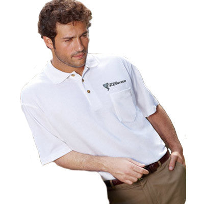 UltraClub Classic Pique Polo with Pocket