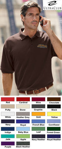UltraClub Mens Whisper Pique Polo - EZ Corporate Clothing  - 2