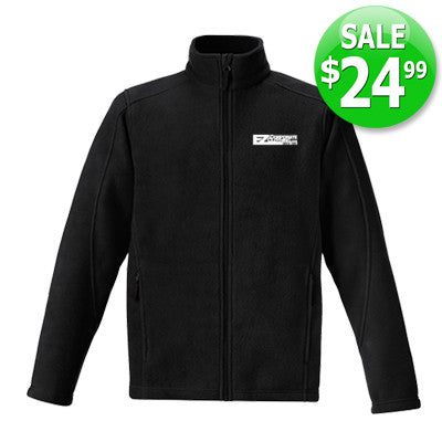 SALE - Men's Journey Core365 Fleece Jacket in Black - EZ Corporate Clothing  - 1