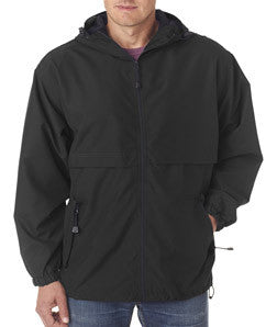 UltraClub Microfiber Hooded Zip-Front Jacket - EZ Corporate Clothing  - 2