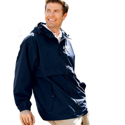 UltraClub Microfiber Hooded Zip-Front Jacket - EZ Corporate Clothing  - 1