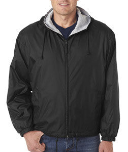 UltraClub Fleece-Lined Hooded Jacket - EZ Corporate Clothing  - 2
