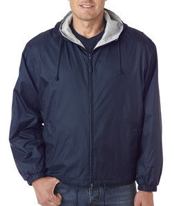 UltraClub Fleece-Lined Hooded Jacket - EZ Corporate Clothing  - 5