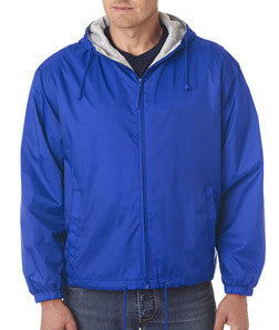 UltraClub Fleece-Lined Hooded Jacket - EZ Corporate Clothing  - 7