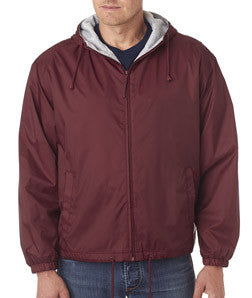 UltraClub Fleece-Lined Hooded Jacket - EZ Corporate Clothing  - 3