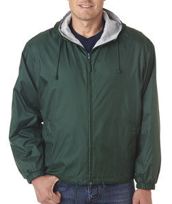UltraClub Fleece-Lined Hooded Jacket - EZ Corporate Clothing  - 4