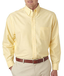 UltraClub Mens Classic Wrinkle-Free Long-Sleeve Oxford - EZ Corporate Clothing  - 3